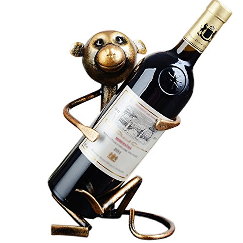 A.B Crew Creative Metal Iron Wine Rack Single Wine Bottle Holder Home Decor(Monkey)