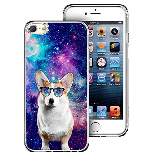 Saicase Soft TPU Case for iPod Touch 7/ Touch 6/ Touch 5 - Galaxy Corgi Dog Bumper Case Back Cover