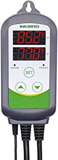 Inkbird 10A 110V Digital Thermostat Temperature Controller with Heat and Cool Relays ITC-308 Homebrewing Breeding Incubation Sous Vide