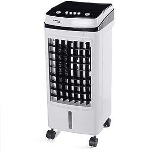 Warmwin 75W Aire Acondicionado portátil 15L Aire Acondicionado Ventilador Humidificador Refrigerador 220V Temporización 3 Modo Ventilador Ventilador de refrigeración Humidificador-Amarillo