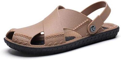 TD S1915 Herrenschuhe Mode Tragen Sandalen Rutschfeste Weißhe Boden Sand Drag Beach Schuhe (Farbe   B, Größe   EU39 UK6.5 CN40)