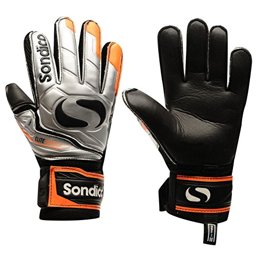 Sondico Unisex EliteProtect Torwart Handschuhe Silber/orange UK 11