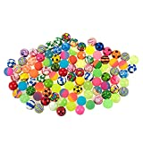 Bouncy Balls Party Favors - 100-Count Super Bouncy Balls Bulk, Colorful High Bouncing Balls Party Bag Filler, Assorted Designs, 1.25 Inches in Diameter