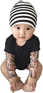 Tattoo Sleeve Romper for Baby Boy Infant Jumpsuit Newborn T-Shirt Outfits Cotton Onesie