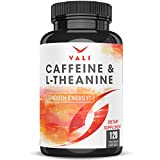 Caffeine 50mg & L-Theanine 100mg Pills for Smooth Energy, Focus, Clarity - 120 Veggie Capsules. Natural Cognitive Performance Stack for Focused Mind & Body. Smart Low Dose Boost No Jitters No Crash