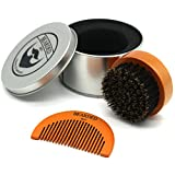 Bearded Ben Beard Brush with Boar Bristles in Quality Storage Box / Gift