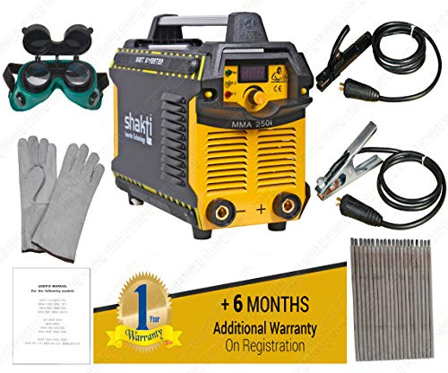 Shakti Technology Inverter ARC Welding Machine 250 Amps. Single Phase with all accessories | Model : MMA-250i | 1 Year Warranty