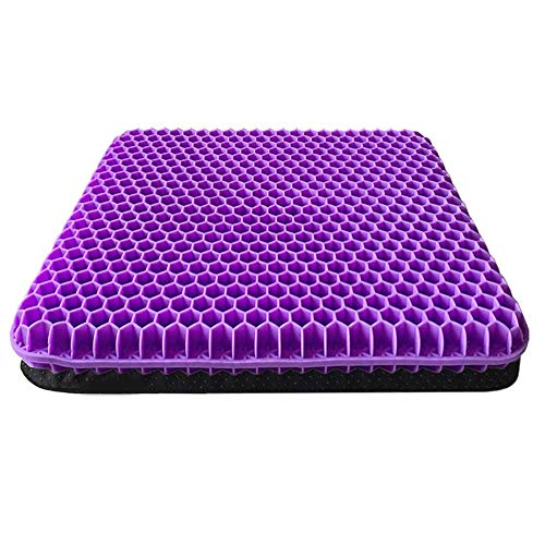 Gel Seat Cushion, Comfort Honeycomb Egg Crate Design Gel Pad for Lower Back Spine Hips Promotes Venting & Good Sitting Posture for Office Chair Car Sitter Wheelchair