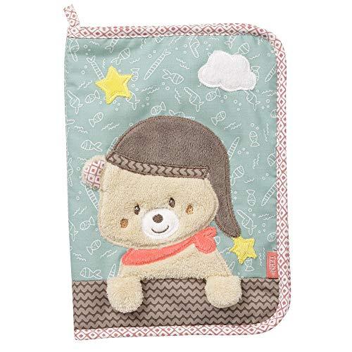 Fehn 060461 - Custodia per quaderni a U con orsetto – Borsa per documenti per il passaporto e per la maternità e altri oggetti – Dimensioni: 23 x 16 cm