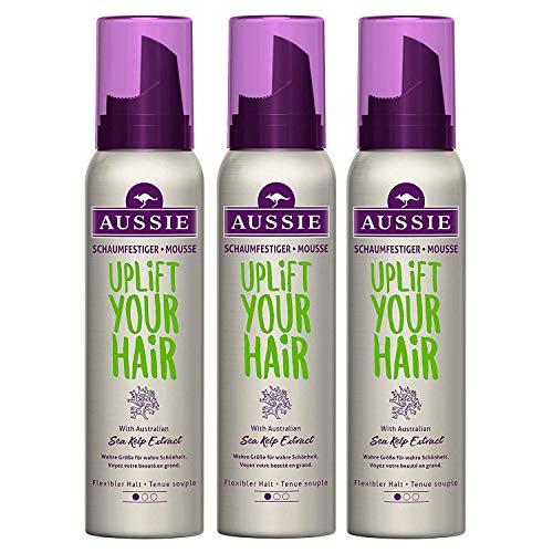 3x Aussie Volumen Mousse Uplift your Hair flexibler Halt je 150ml Styling Schaum