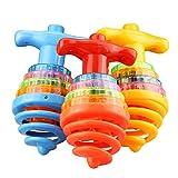 Top ronzio LED Spinning Top Spinning Toys, Giocattoli giroscopici LED Lampeggianti a Colori Casuali con Giocattoli Musicali Peg-Top per Bambini