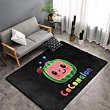 Oversized Cocomelon Area Rug 3D Soft Non-Slip Floor Mats Plush Carpets for Living Room Bedroom Home Decoration 60 X 39 in