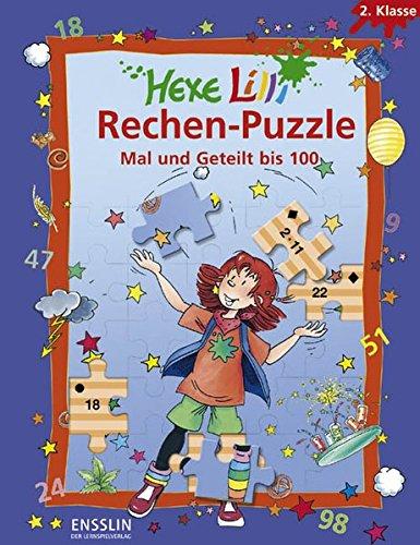 Hexe Lilli Rechen-Puzzle - Mal und Geteilt bis 100