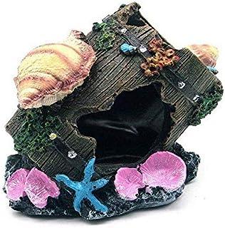SKEIDO Aquarium Fish Tank Artificial Shell Cask Barrel Resin Ornament Cave Landscaping Decoration Aquarium Fish Decoration
