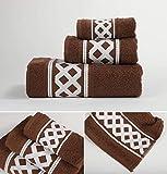 Energy Colors Textil - Hogar - Cenefa Turca - Juego de Toalla 3 Piezas 100% Algodón de 500 Gramos (Chocolate)