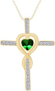AFFY Cross Love Infinity 14k Gold Over Sterling Silver Pendant Necklace