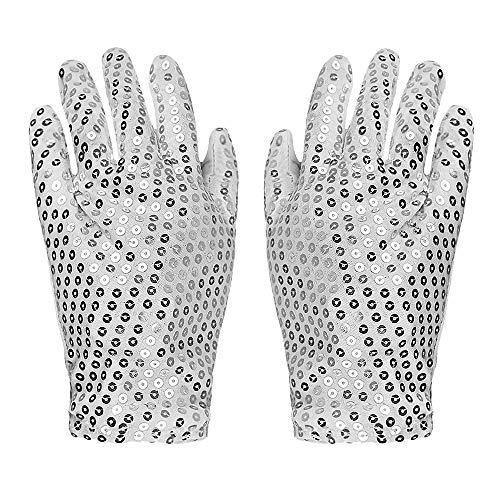ANLW Sequined Glitter Handschuhe LED-Handschuhe Finger Lichter 6 Modes Flashing Rave Handschuhe Light UpToys