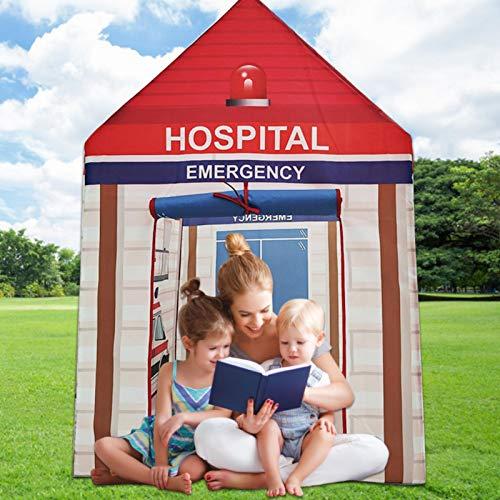 Tienda de juegos para niños - 107 x 73 x 120 cm Casa de juegos para niños pequeños, plegable plegable Fácil montaje Juego Tienda/Casa de juguete para uso en interiores y exteriores