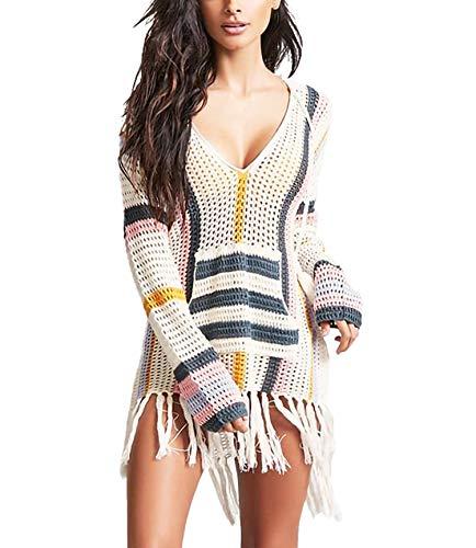 Jeasona Swimsuit Cover Ups for Women Beach Bathing Suit Bikini Crochet Dress