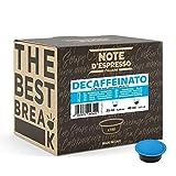 Note d'Espresso - Decaffeinato - Cápsulas de Café para las Cafeteras Lavazza y A Modo Mio - 100 x 7 g