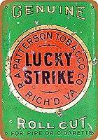 Lucky Strike 金属板ブリキ看板警告サイン注意サイン表示パネル情報サイン金属安全サイン