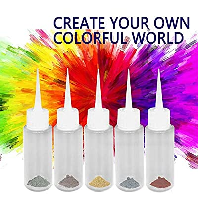 Roorsily 5 Bottles Kit Muti-Color Dyes Permanent Paint for DIY Arts Clothes Fabric,Tie Dye Kit, Dye Kit for Kids, Adults, All in One Creative Tie-Dye Kit Perfect for Party Group