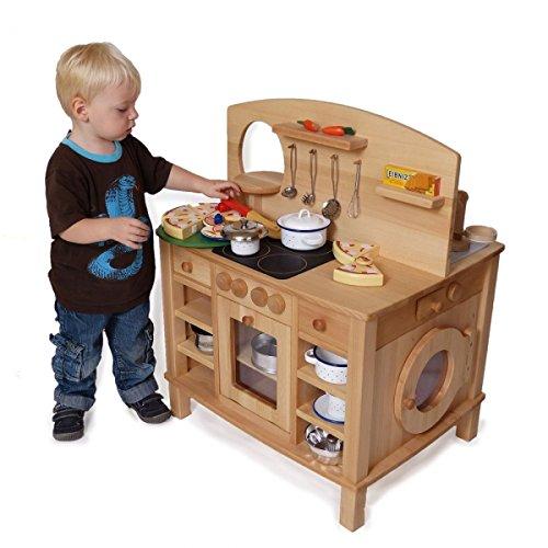 Kinder-Spielküche Cinderella 2050-4-seitig bespielbar - mit 4 Feststellrollen - 4