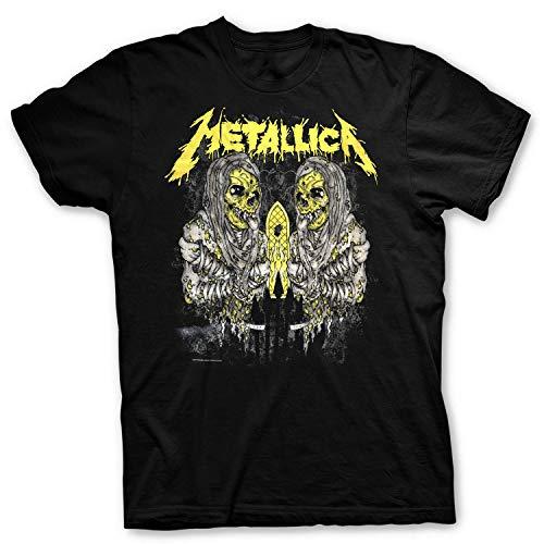 Metallica Officially Licensed - T-Shirt Sanitarium Maglia Maglietta Stampa Fronte e Retro Rock (XX-Large)