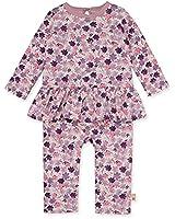 Burt's Bees Baby Baby Girls' Romper Jumpsuit, 100% Organic Cotton One-Piece Coverall, Ditsy Museum, Newborn