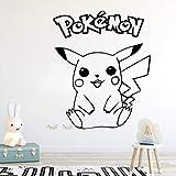 YuanMinglu Sticker Mural Dessin animé Pokemon Décorations pour la Maison