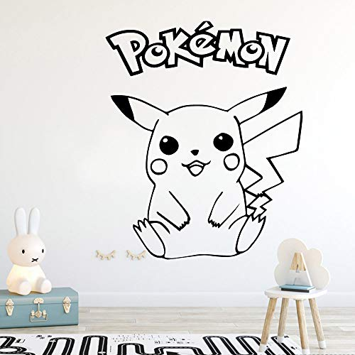 YuanMinglu Dibujos Animados Pokemon Wall Sticker Home Decor