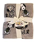 Berkshire Velvet Soft Peanuts Throw (Snoopy Halloween) Grey 55' x 70'