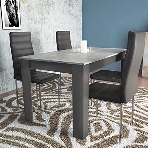 milani home Tavolo da Pranzo allungabile in Legno di Design per Sala da Pranzo 140/180 x 80 x 75 h