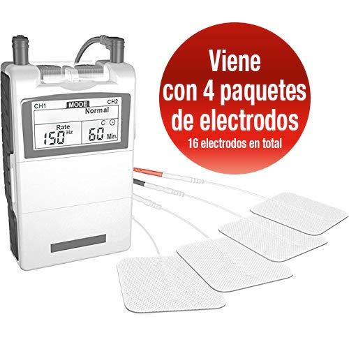 Med-Fit Electroestimulador Digital Masaje EMS TENS Para El Alivio Del Dolor y Estimulador...