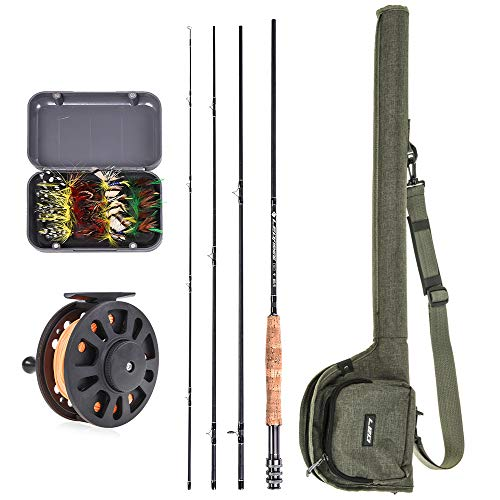 Lixada Fly Fishing Rod and Reel Combo with...