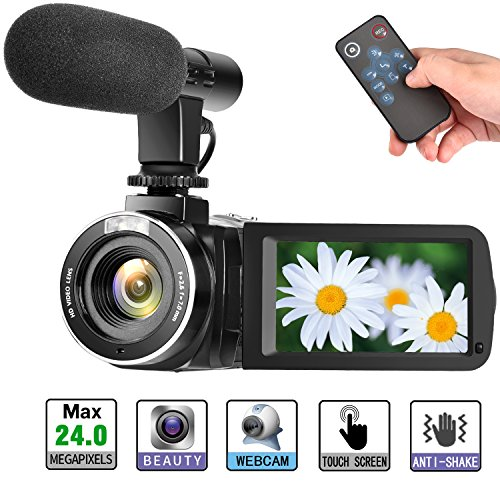 Camcorder Digital Video Camera, Digital Camera Full HD 1080P 30FPS 3'' LCD Touch Screen...