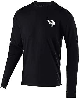Troy Lee Designs Mens Long Sleeve Skully T-Shirt (X-Large, Black)