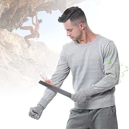 HIMAugbo T-Shirt de Protection de Niveau 5, Résistant à l'usure Gilet Anti Couteau, Vetement Anti Couteau pour...