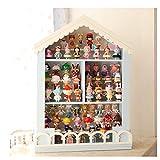 early morning Estante de exhibición de Almacenamiento de Caja ciega, Vitrina Hecha a Mano, Escalera de celosía de casa de muñecas a Prueba de Polvo de Villa unifamiliar(Color:B)