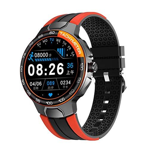 JXFF E15 Smart Watch, Reloj Deportivo para Hombres, IP68 Impermeable, GPS Seguimiento De La Ritmo Cardíaco Presión Arterial Tiempo Smart Watch PK P8 E13 para iOS Android,A