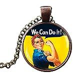Gudeke - Collar con colgante de símbolo feminista para mujer