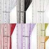 John Aird Dew Drop Beaded Chain String Curtain Panel (Gold)