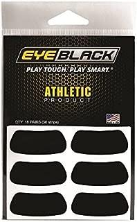 EyeBlack Black Athletic Eye Black Anti Glare Stickers, 18-Pairs