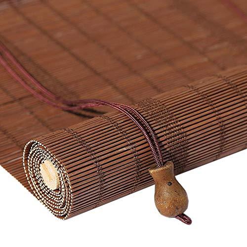 Jcnfa-Rolgordijn houten rolgordijnen Verticale verduisterende jaloezieën/bamboe Venetiaanse jaloezieën voor ramen en deuren,45cm/ 65cm/85cm/ 105cm/ 125cm/ 135cm breed
