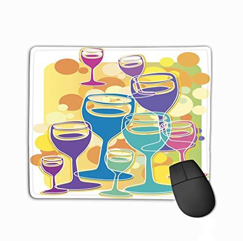 Mousepad, schattig muismat Champagne Cheers geometrisch