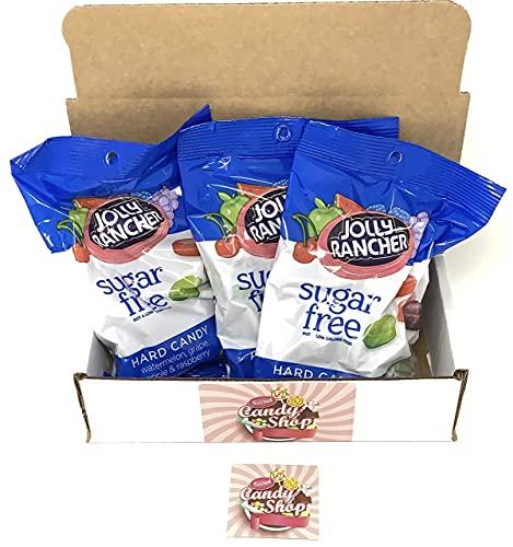 Jolly Rancher Sugar Free Hard Candy 3.6oz Bag (Pack of 3)