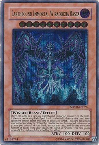 Yu-Gi-Oh! - Earthbound Immortal Wiraqocha Rasca - SOVR-EN026 Unlimited Edition Ultimate Rare - Stardust Overdrive