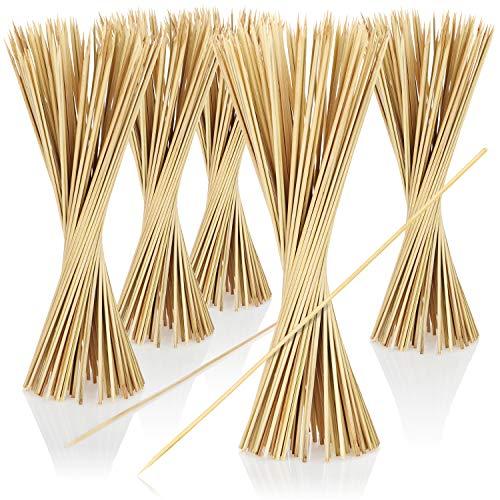 COM-FOUR® 500x Schaschlikspieße aus Holz - 30 cm lange Grillspieße - Gemüsespieße im Set (0500 Stück - 30cm)