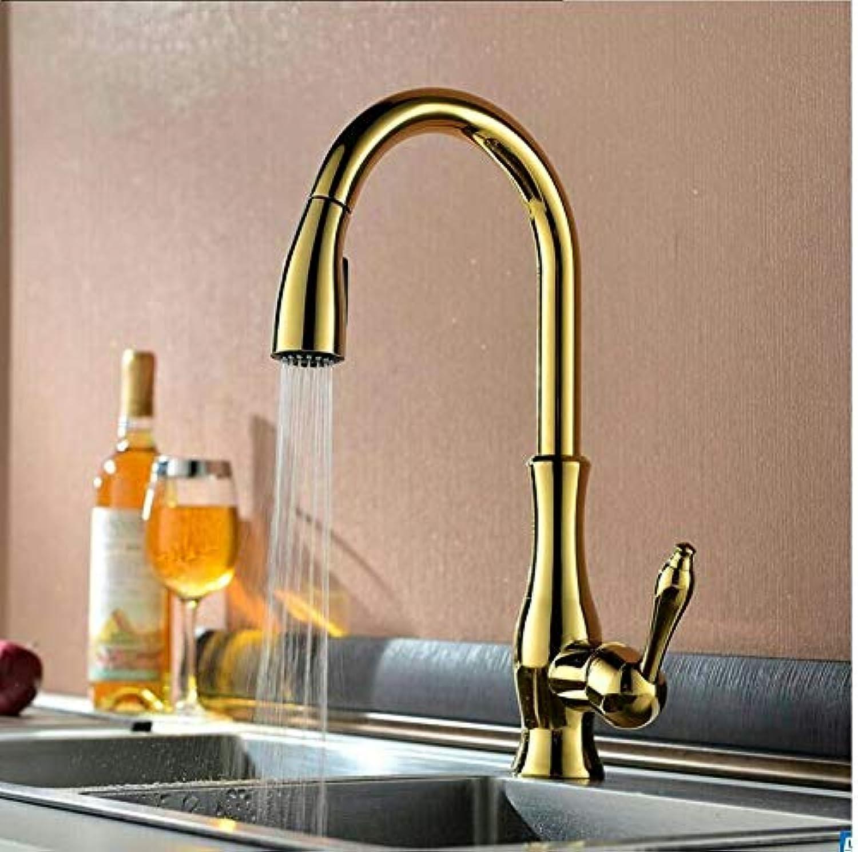 Wasserhahn Einhand Wasserhhne Küchenarmatur Warmes Und Kaltes Wasser Waschbecken Waschbecken Wasserhahn Pull-Typ Waschbecken Wasserhahn Gebürstet