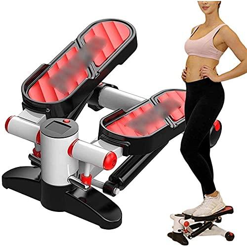 Yongqin Stepper Fitness aeróbico Fitness Stepper, multifunción máquina de ejercicio de caminadora, deportes pérdida de peso hidráulico mini estufa equipo de fitness para sala de estar/oficina/gimnasio